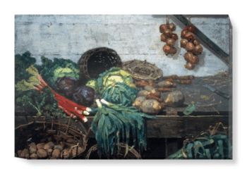 'The Vegetable Stall' Canvas Wall Art
