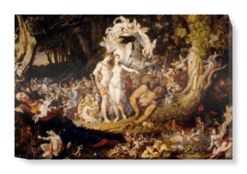 'The Reconciliation of Oberon and Titania' Canvas Wall Art