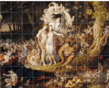 'The Reconciliation of Oberon and Titania' Ceramic Tile Mural