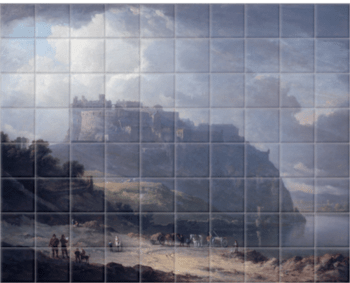 'Edinburgh Castle and the Nor' Loch' Ceramic Tile Mural