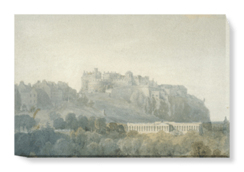 'Edinburgh Castle and the Proposed National Gallery of Scotland' Canvas Wall Art