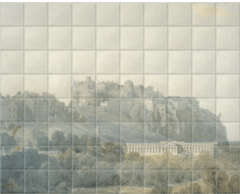 'Edinburgh Castle and the Proposed National Gallery of Scotland' Ceramic Tile Mural