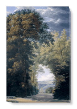 'An Alley of Trees in a Park' Canvas Wall Art