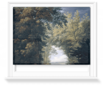 'An Alley of Trees in a Park' Roller Blind