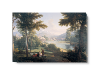 'A View of Florence from the North Bank of the Arno' Canvas Wall Art