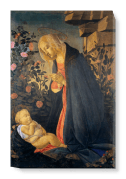 'The Virgin Adoring the Sleeping Christ Child' Canvas Wall Art