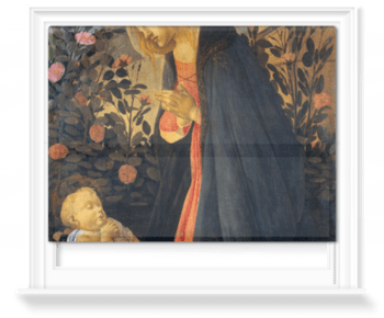 'The Virgin Adoring the Sleeping Christ Child' Roller Blind