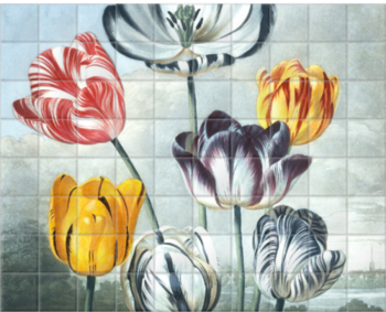'Tulips' Ceramic Tile Mural