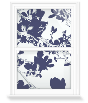 'Abstract Flowers Black/White' Decorative Window Film