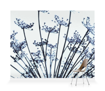 'Abstract Dill Flowers' Wallpaper Mural