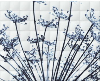'Abstract Dill Flowers' Ceramic Tile Mural