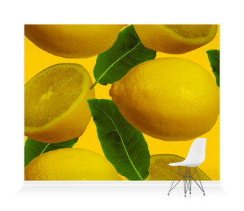 'Abstract Lemons' Wallpaper Mural