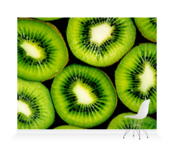 'Abstract Kiwis' Wallpaper Mural