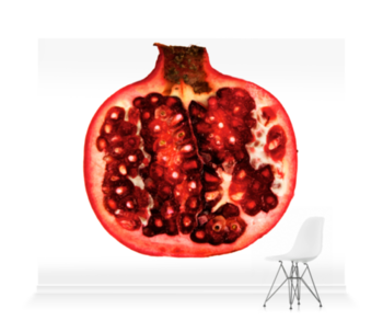 'Pomegranate Cross Section' Wallpaper Mural