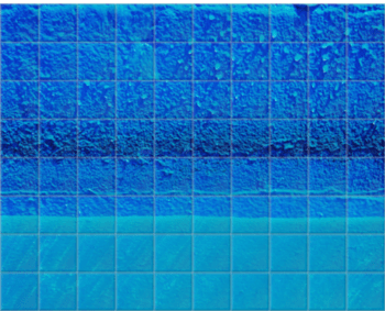 'Azure Pool Wall' Ceramic Tile Mural