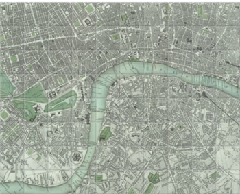 'Chart of London City' Ceramic Tile Mural