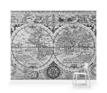 'Map of the World' Wallpaper Mural