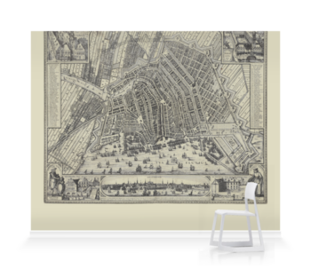 'View of Amsterdam' Wallpaper Mural