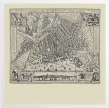 'View of Amsterdam' Art Prints