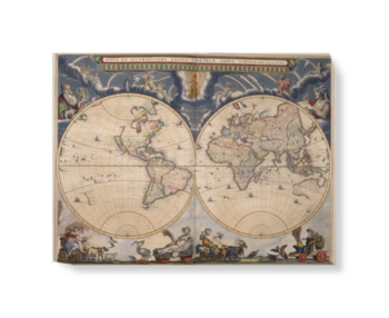 'Bleau Atlas' Canvas Wall Art