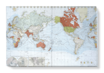 'Commercial chart of the world' Canvas Wall Art