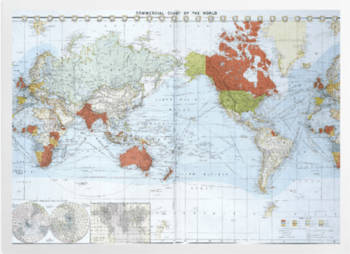'Commercial chart of the world' Art Prints