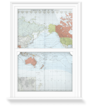 'Commercial chart of the world' Decorative Window Film