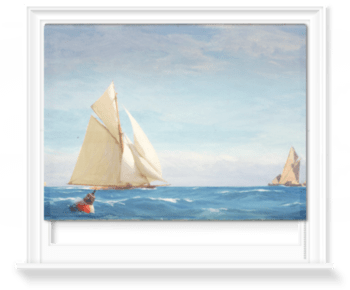 'A Large Sloop Yacht And A Barge†' Roller Blind