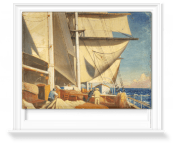 'Mending Sails On The Deck Of The 'Birkdale'†' Roller Blind