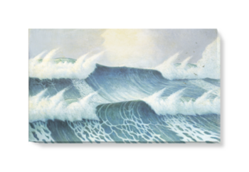 'Seascape by Herbert Barnard John Everett' Canvas Wall Art