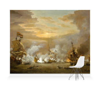 'The Battle Of The Texel' Wallpaper Mural