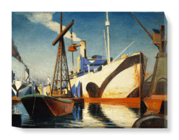 'Converting A Cunarder To A Merchant Ship†' Canvas Wall Art