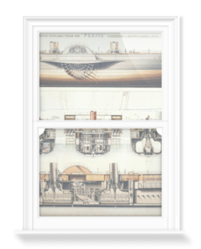 'Ship Plan Of The Paddle Steamer Persia' Decorative Window Film