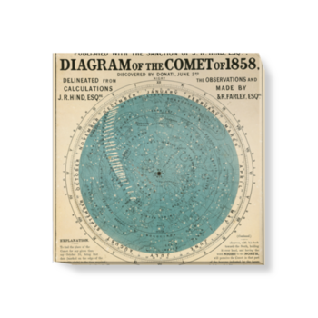 'Diagram of the Comet of 1858' Canvas wall art