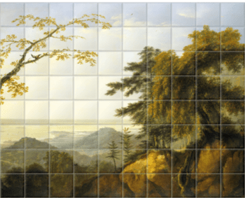 'A view of the island of New Caledonia in the south' Ceramic Tile Mural