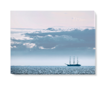 'Russian full-rigged ship' Canvas Wall Art