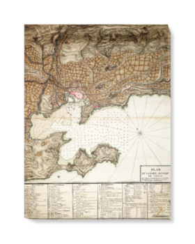 'Plan of Toulon' Canvas Wall Art