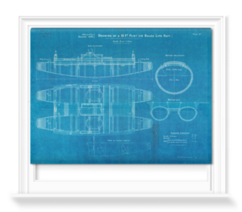 'Plan of 10ft punt or balsa life raft' Roller Blind