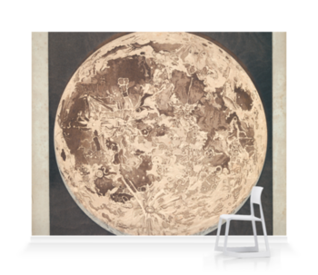 'Telescopic appearance of the moon, backlit' Wallpaper Mural