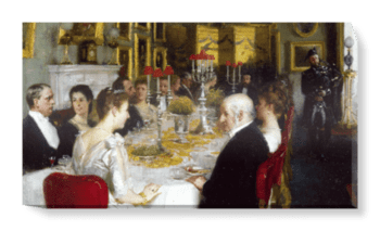 'Dinner at Haddo House, 1884' Canvas Wall Art