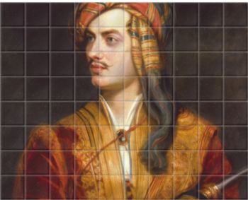 'George Gordon Byron' Ceramic Tile Mural