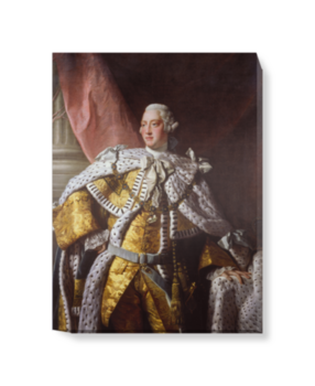 'King George III' Canvas Wall Art
