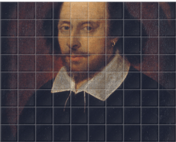 'William Shakespeare' Ceramic Tile Mural