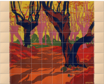 'Epping Forest' Ceramic Tile Mural