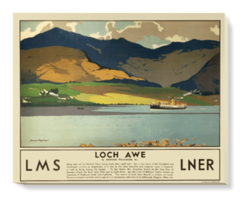 'Loch Awe' Canvas Wall Art