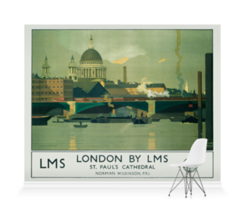 'London by LMS' Wallpaper Mural