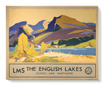 'The English Lakes' Canvas Wall Art