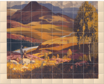'Britain in Autumn' Ceramic Tile Mural
