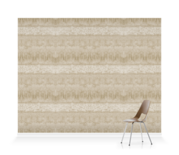 'Servants Quarters Stripe Parchment' Wallpaper murals
