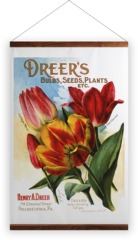'Dreer's Bulbs' Wall Hanging